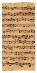 The Brandenburger Concertos Beach Towel by Johann Sebastian Bach