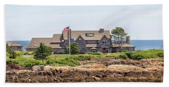 The Bush Family Compound On Walkers Point Beach Sheet by Brian MacLean