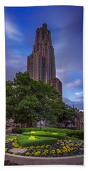 The Cathedral Of Learning Beach Sheet by Rick Berk