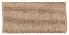 The Declaration Of Independence Beach Sheet by War Is Hell Store
