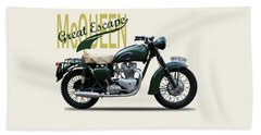 The Great Escape Motorcycle Beach Towel by Mark Rogan