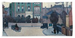 The Green House, St John's Wood Beach Towel by Robert Bevan