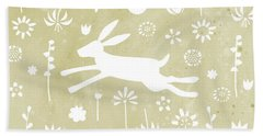 The Hare In The Meadow Beach Sheet by Nic Squirrell