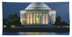 The Jefferson Memorial Beach Towel by Peter Newark American Pictures