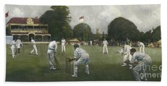 The Kent Eleven Champions, 1906 Beach Towel by Albert Chevallier Tayler