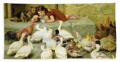 The Last Spoonful Beach Towel by Briton Riviere
