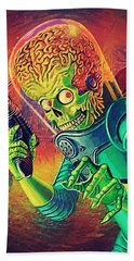 The Martian - Mars Attacks Beach Towel by Taylan Soyturk