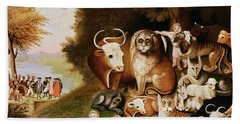 The Peaceable Kingdom Beach Towel by Edward Hicks