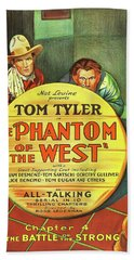 The Phantom Of The West 1931 Beach Towel by Mountain Dreams