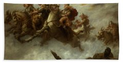 The Ride Of The Valkyries  Beach Towel by William T Maud