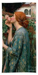 The Soul Of The Rose Beach Towel by John William Waterhouse