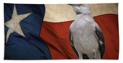 The State Bird Of Texas Beach Towel by David and Carol Kelly