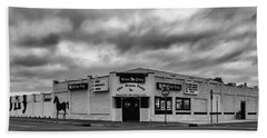 The Stone Pony Asbury Park New Jersey Black And White Beach Sheet by Terry DeLuco