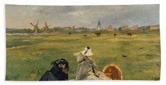 The Swallows Beach Towel by Edouard Manet