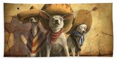 The Three Banditos Beach Towel by Sean ODaniels