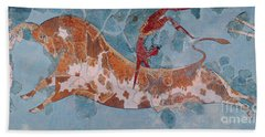 The Toreador Fresco, Knossos Palace, Crete Beach Towel by Greek School