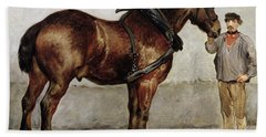 The Work Horse Beach Towel by Otto Bache