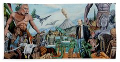 The World Of Ray Harryhausen Beach Towel by Tony Banos
