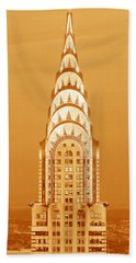 Chrysler Building At Sunset Beach Towel by Panoramic Images
