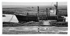 Thornham Harbour, North Norfolk Beach Sheet by John Edwards