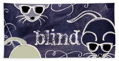 Three Blind Mice Children Chalk Art Beach Towel by Mindy Sommers