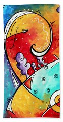 Tickle My Fancy Original Whimsical Painting Beach Towel by Megan Duncanson