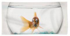 Tiger Fish Beach Sheet by Juli Scalzi