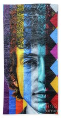 Times They Are A Changing Giant Bob Dylan Mural Minneapolis Detail 2 Beach Sheet by Wayne Moran