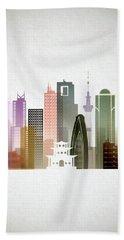 Tokyo  Cityscape Beach Towel by Dim Dom
