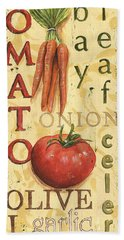 Tomato Soup Beach Towel by Debbie DeWitt