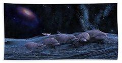 Topsail Starry Night  Beach Sheet by Betsy Knapp