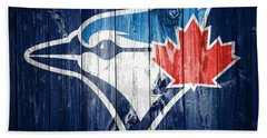 Toronto Blue Jays Barn Door Beach Towel by Dan Sproul