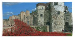 Tower Of London Poppies - Blood Swept Lands And Seas Of Red  Beach Towel by Richard Harpum
