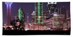 Towering Over Dallas Beach Towel by Frozen in Time Fine Art Photography