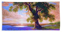 Tree Of Tranquillity Beach Sheet by Jane Small