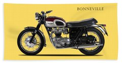 Triumph Bonneville 1968 Beach Towel by Mark Rogan