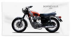 Triumph Bonneville 1969 Beach Towel by Mark Rogan
