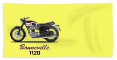 Triumph Bonneville T120 1968 Beach Towel by Mark Rogan