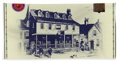Tun Tavern - Birthplace Of The Marine Corps Beach Sheet by Bill Cannon