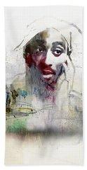 Tupac Graffitti 2656 Beach Sheet by Jani Heinonen