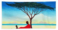 Turkana Afternoon Beach Towel by Tilly Willis