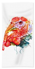 Turkey Head Beach Towel by Marian Voicu