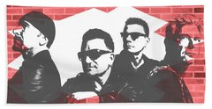 U2 Graffiti Tribute Beach Towel by Dan Sproul