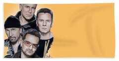 U2 Beach Towel by Melanie D