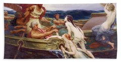 Ulysses And The Sirens Beach Sheet by Herbert James Draper