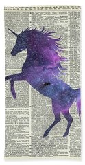 Unicorn In Space Beach Towel by Jacob Kuch