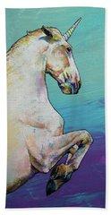 Unicorn Beach Towel by Michael Creese