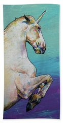 Unicorn Beach Sheet by Michael Creese
