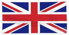 Union Jack Ensign Flag 1x2 Scale Beach Towel by Bruce Stanfield
