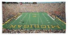 University Of Michigan Stadium, Ann Beach Towel by Panoramic Images